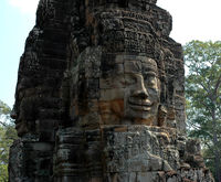 Bodhisattva-Köpfe im Bayon Tempel