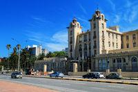 Mercosur Parliament building along the bank of Rio de la Plata i