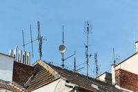 Antennas on a roof