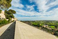 Panoramic view from Mdina city walls,Malta