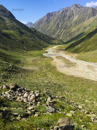 Die Sulze oder Sulztalalm bei Gries, Ötztal, Tirol, Österreich