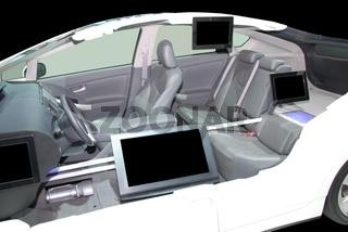 Schnittmodell eines Fahrzeuges / Cut model