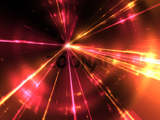 red and yellow laser rays