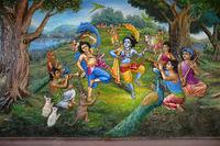Gopiya in garden. Iskcon temple, Pune