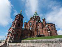 Uspenski Cathedral in Helsinki Finland