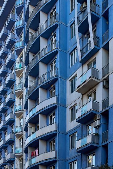 Balkonstruktur in Batumi, Georgien