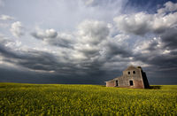 Storm Clouds Canada Abandoned house