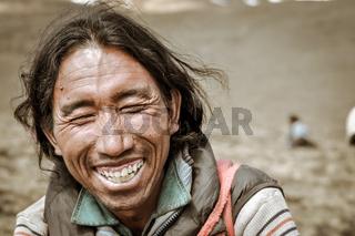 Closed eyes in Nepal