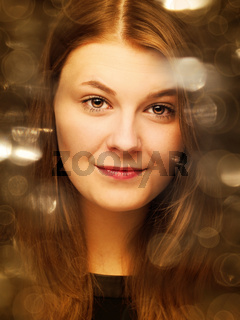 Beauty portrait with retro film effects