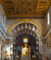 Interior of church. Rome , Italy