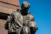 Statue of a russian soldier at the Soviet War Memorial  in Berlin's Treptower Park