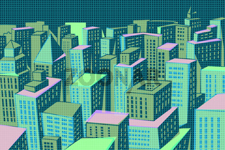 Night modern city panorama