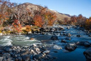 Fall in the Perito Moreno National Park, Patagonia, Argentina