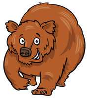 cartoon grizzly bear animal character