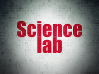 Science concept: Science Lab on Digital Data Paper background