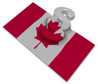 paragraphsymbol und kanadische fahne - 3d illustration