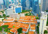 Singapore Chinatown aerial view