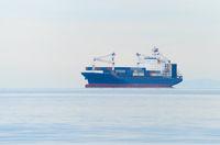 One industrial tanker in sea