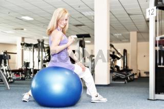 im Fitnessclub