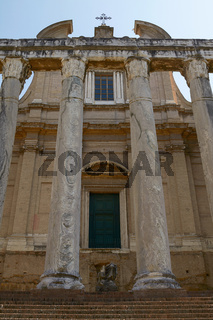 Ancient Roman Temple of Antoninus and Faustina in Rome Italy