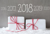 Two Gifts With Snow, Timeline 2018