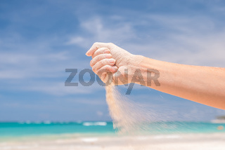 Sand in hand