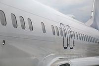 Airliner fuselage closeup