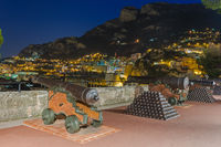 Cityscape of Monaco and cannon