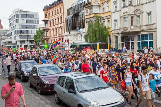 CSD Wiesbaden 3. Juni 2017.