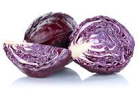 Blaukraut Rotkohl Kraut frisch geschnitten Gemüse Freisteller freigestellt isoliert