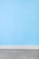 Interieur with blue wall paper