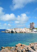 der Wachturm in Marciana Marina,Insel Elba,Toskana,Mittelmeer,Italien