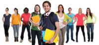 Studenten Gruppe junge jung lachen glücklich Leute Menschen People Jugendliche Freisteller