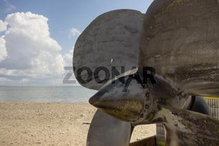 Ship Prop Propeller Gulf Beach Clouds