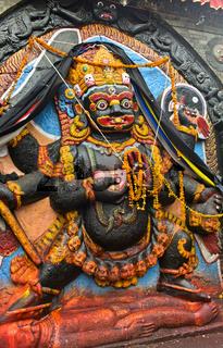 Hinduistischer Gott Kala Bhairav, Hanuman Dhoka Durbar Square, Kathmandu, Nepal