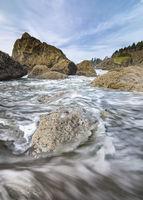 Ocean Waves at Rocky Pacific Northwest Beach
