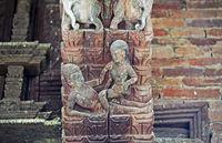 Erotische Holzschnitzereien am Jagannath Tempel, Durbar Square, Kathmandu, Nepal