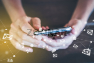 using  mobile phone for mail - email with smartphone