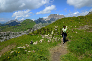 Wanderung; Lechquellengebirge; Oesterreich; Tirol;