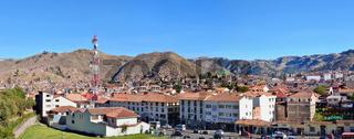 center of historical Cusco city