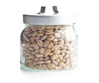 Dried borlotti beans.