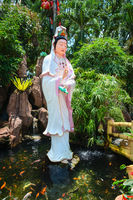 Guanyin goddess statue in chinese temple