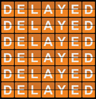 Retro Style Delayed Sign