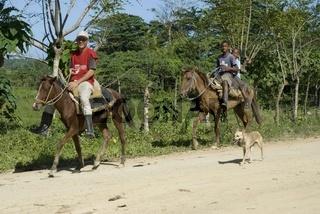 Zwei Dominikaner auf ihren Pferden