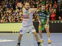 Marcel Schiller (Frisch Auf Göppingen) beim DKB-Handball Punktspiel SC Magdeburg - Frisch Auf Göppingen am 22.02.2018 in Magdeburg