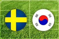 Sweden vs South Korea football match