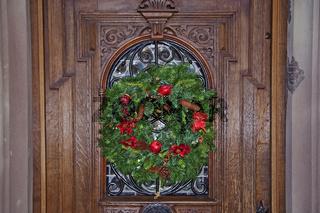 Weihnachtsdekoration Turckheim, Elsass, France
