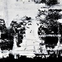 Strokes of white oil paint
