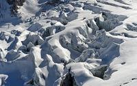 Gletscherspalten im Feegletscher, Saas-Fee, Wallis, Schweiz