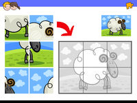 jigsaw puzzles with ram animal character